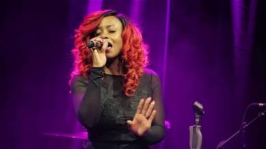 Cherri V sings